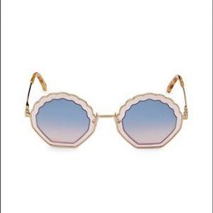 NWOT Chloé 56MM Geometric Sunglasses